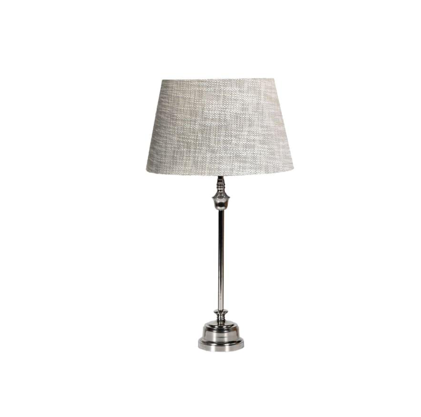 Nickel Lamp with fabric shade