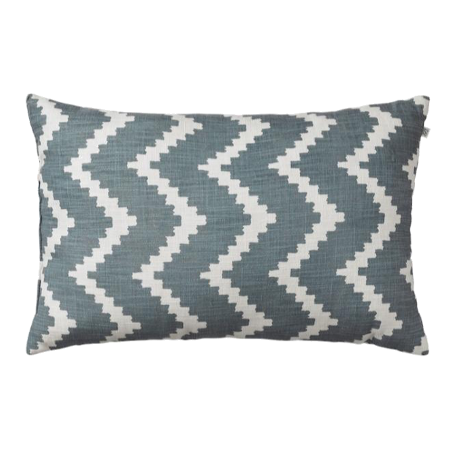Linen Ikat Sema Outdoor - Heaven Blue / Off White