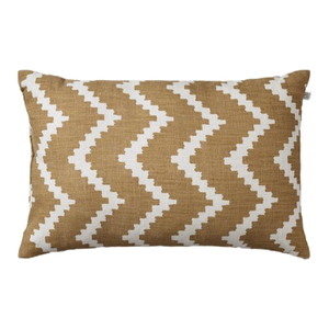Linen Ikat Sema Outdoor - Beige / Off White