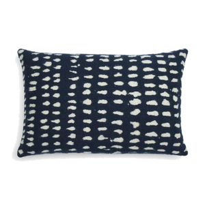 Navy Dots Cushion - Lumbar