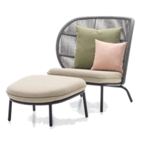 Load image into Gallery viewer, Kodo Cocoon Chair & Foot Rest Set