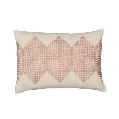 Geotile Cushion - Dusty Pink