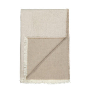 Venice throw - white & latte