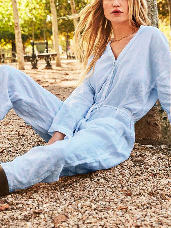 Casual Long Sleeve Jumpsuit
