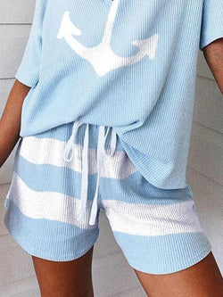 Fashion Casual Personality Printed Shorts
