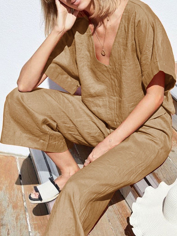 Casual Fashion Solid Color Jumpsuit