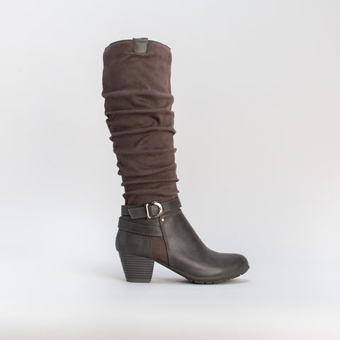 Knee-High Slouch Boot _ 108757