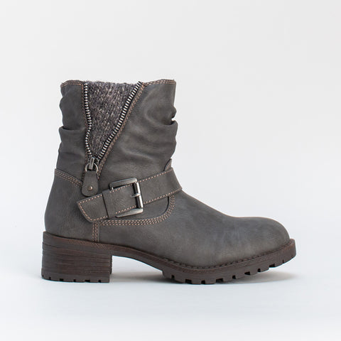 Burnished Biker Boot _ 108844