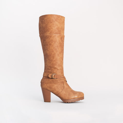 Strapping Cone Heel Boot _ 108864