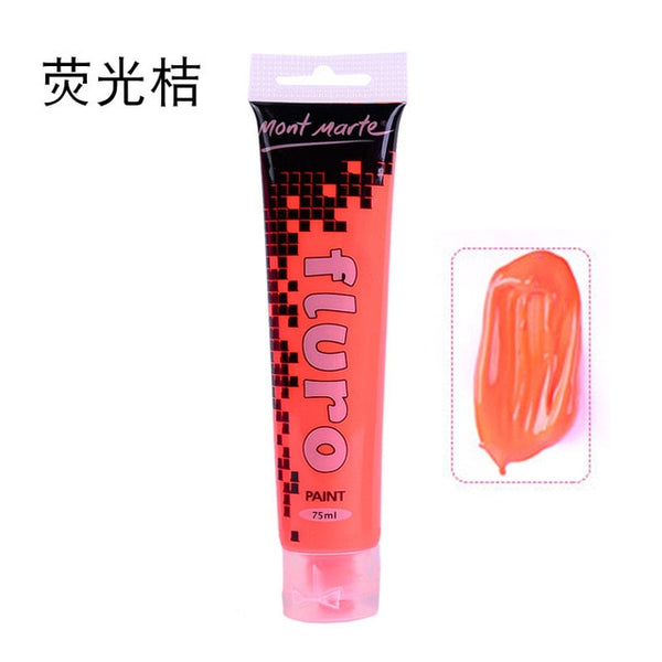 75ml/tube Acrylic paints Hand Painted Wall Drawing craft Painting Pigment flash glue metal fluorescent Metallic color AOA002