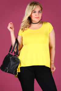 Oversize Yellow Blouse - Trendyul