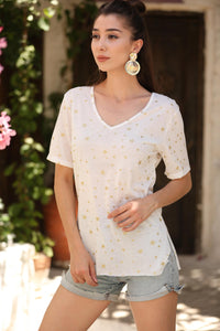 Women's Patterned White Blouse - Trendyul