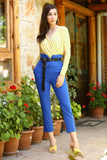 Women's Belted Saxe Pants - Trendyul