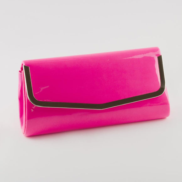 Women's Patent Leather Evening Clutch Bag - Trendyul