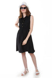Women's Elastic Waist Sleeveless Dress - Trendyul