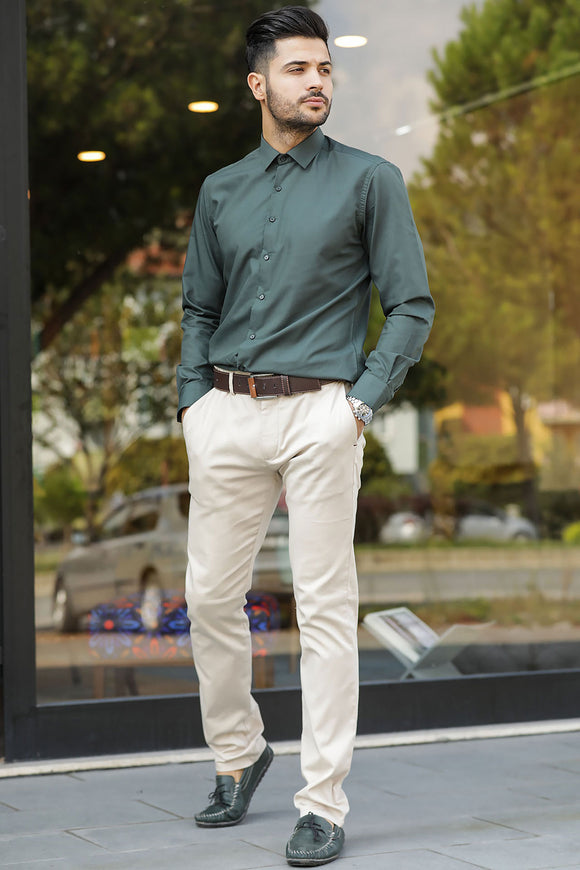 Men's Pocket Cream Pants - Trendyul
