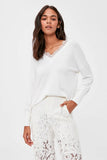 Women's Lace Detail Ecru Blouse - Trendyul