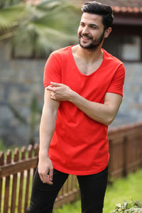 Men's Basic Coral T-shirt - Trendyul