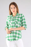 Women's Pocket Checkered Shirt - Trendyul