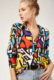 Women's Patterned Multi-color Viscose Shirt - Trendyul