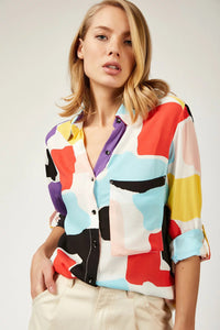 Women's Graphic Pattern Multi-color Shirt - Trendyul