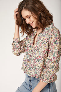 Women's Patterned Viscose Shirt - Trendyul