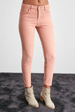 Women's Normal Waist Powder Rose Skinny Jeans - Trendyul