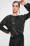 Women's Sequin Anthracite Blouse - Trendyul