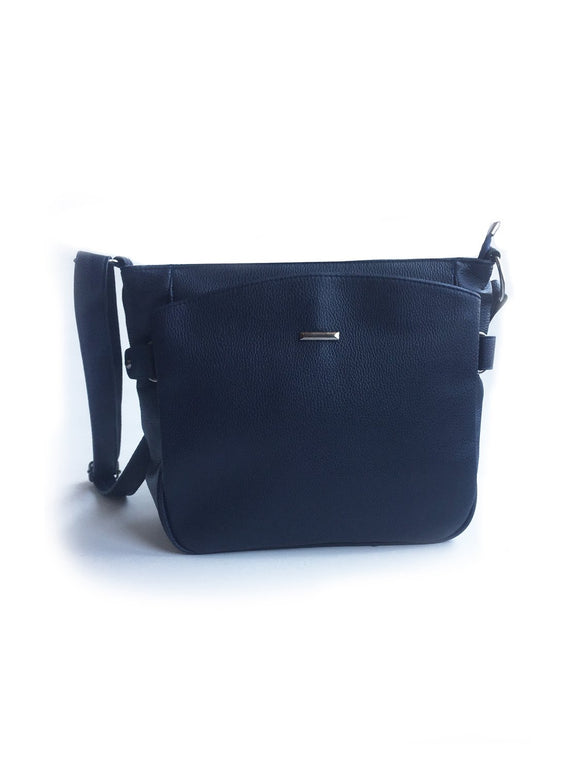Women's Pocket Navy Blue Crossbody Bag - Trendyul