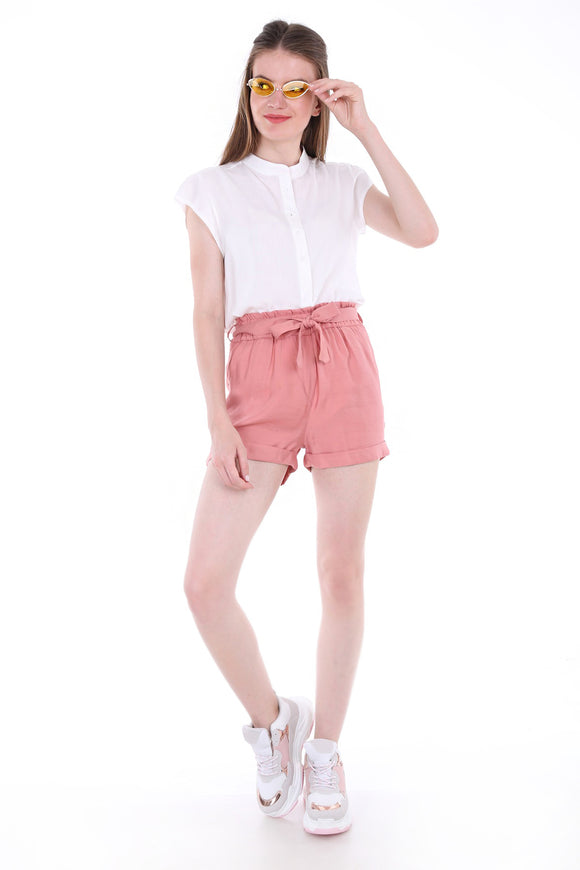 Women's Belted Mini Shorts - Trendyul