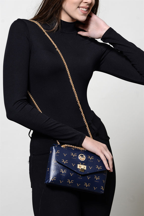 Women's Chain Strap Navy Blue Bag - Trendyul