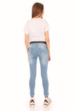Women's Pocket Light Blue Jeans - Trendyul