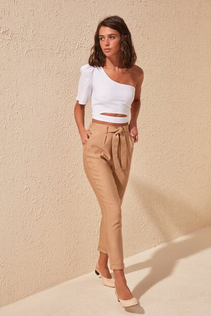 Women's Belt Detail Pants - Trendyul