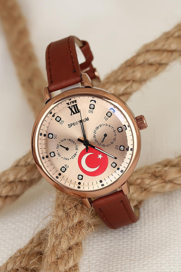 Women's Leather Cord Metal Case Watch - Trendyul