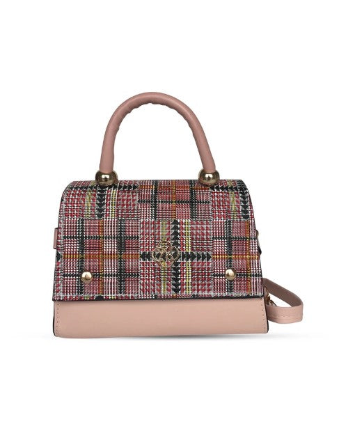 Women's Patterned Pink Crossbody Bag - Trendyul