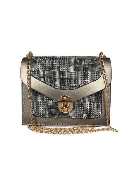 Women's Patterned Grey Crossbody Bag - Trendyul