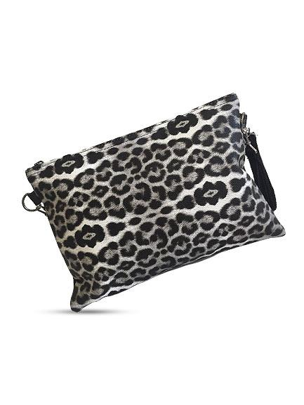 Women's Leopard Pattern Clutch Bag - Trendyul