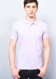 Men's Basic Lilac Polo T-Shirt - Trendyul