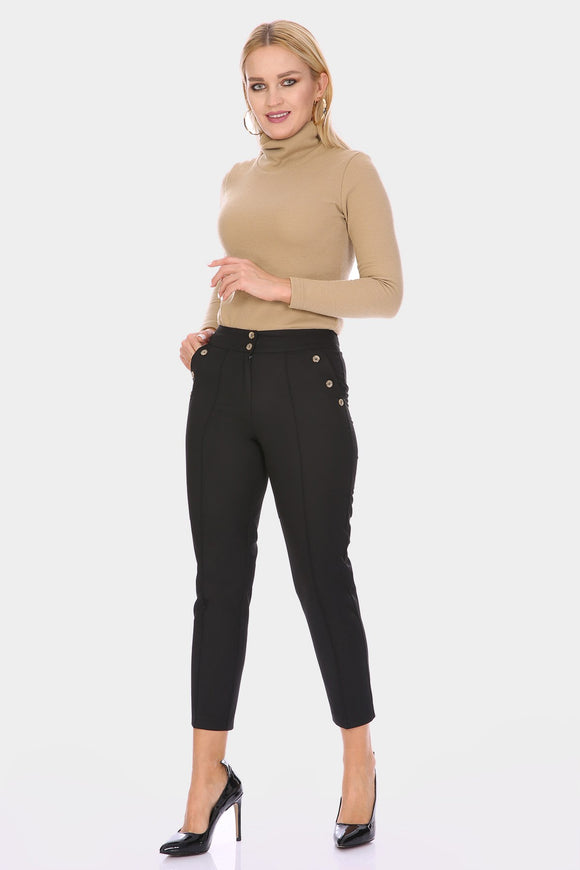 Women's Button Detail Pants - Trendyul