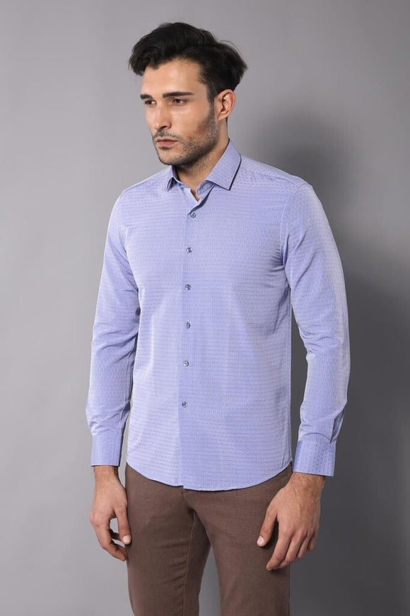 Men's Ice Blue Shirt - Trendyul
