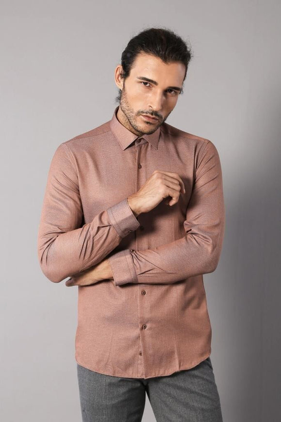 Men's Patterned Slim Fit Shirt - Trendyul