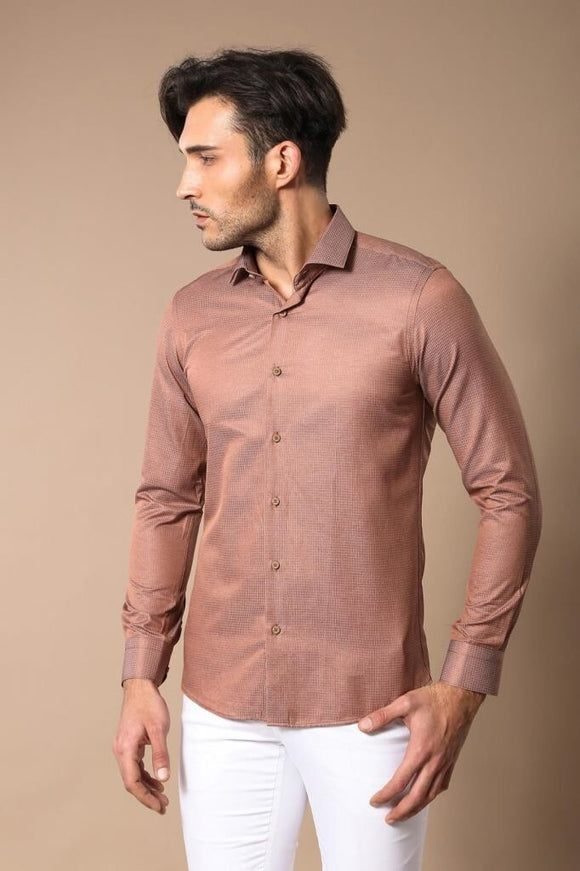 Men's Light Brown Shirt - Trendyul