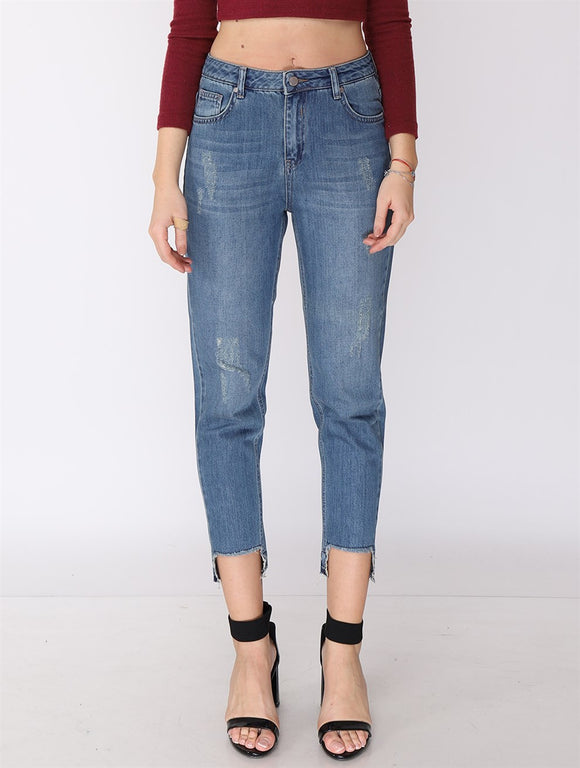 Women's Pocketed Mom Jeans - Trendyul