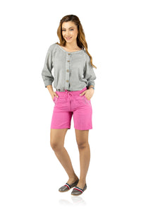 Women's Embroidered Pink Shorts - Trendyul
