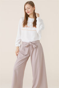Women's Wide Legs Mink Pants - Trendyul