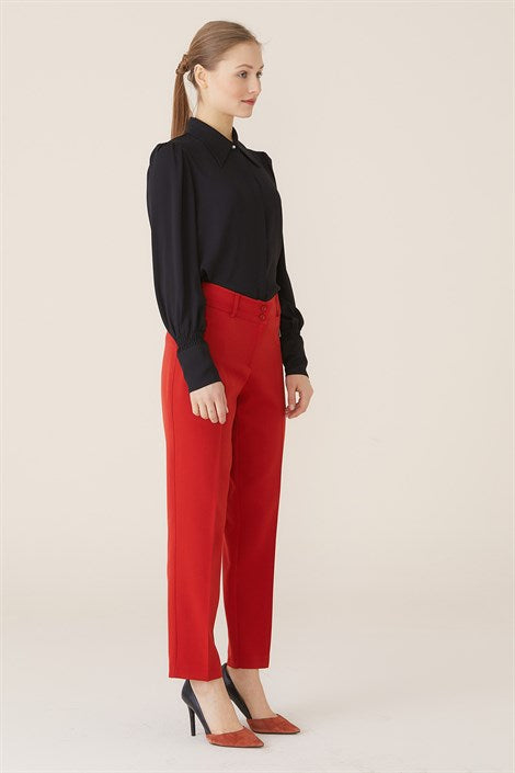 Women's Tile Red Pants - Trendyul