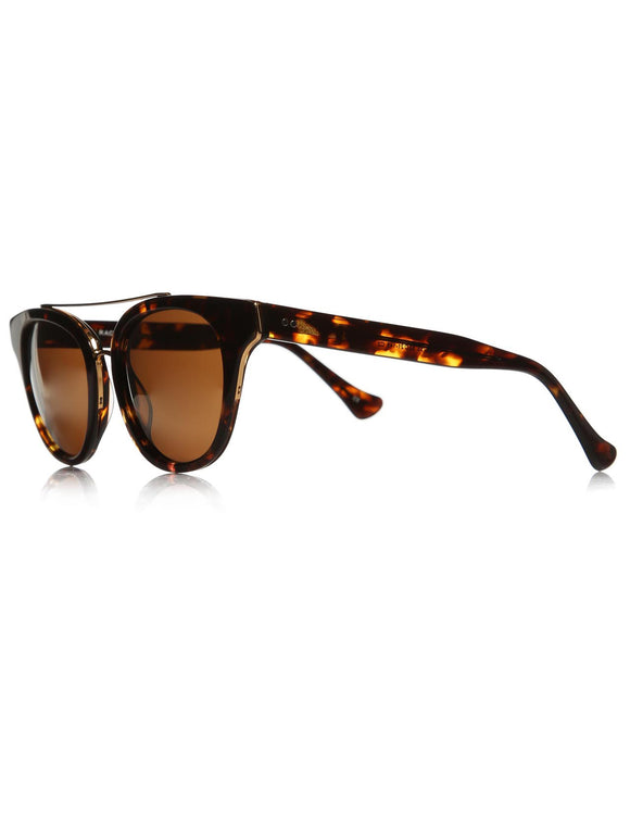 Unisex Patterned Brown Plastic Sunglasses - Trendyul