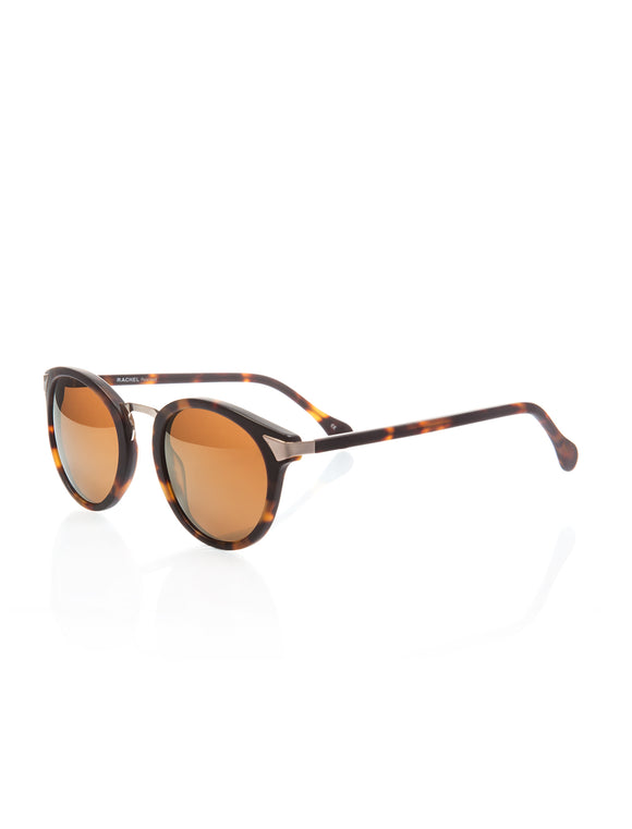 Women's Patterned Brown Plastic Sunglasses - Trendyul
