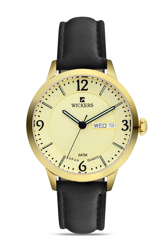 Women's Round Metal Case Black Watch - Trendyul