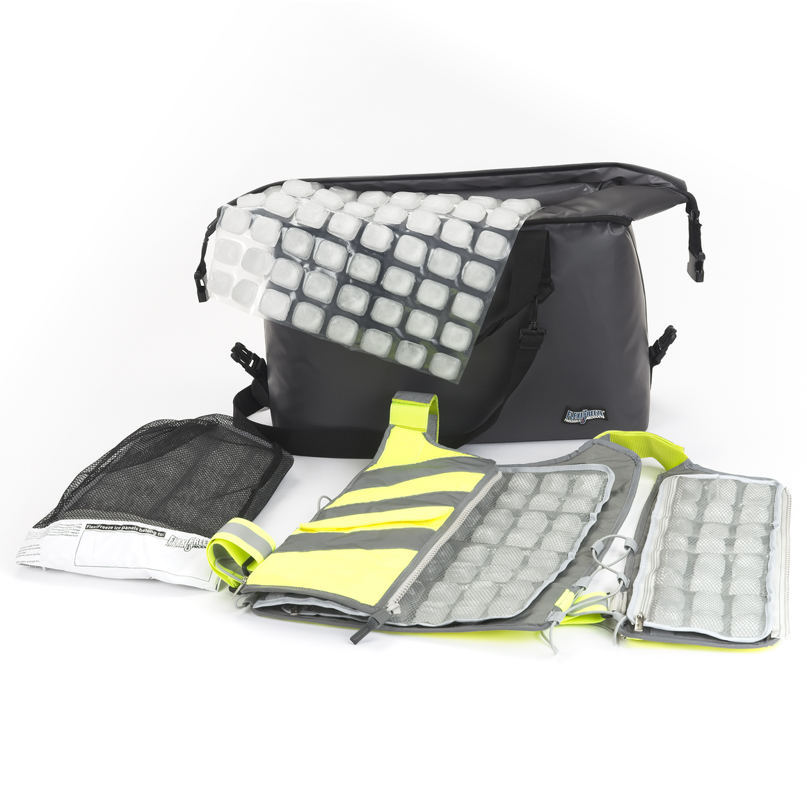 FlexiFreeze® Professional Series Cooling Kit - Hi-Vis YELLOW (Class 1, Type O)